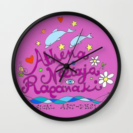 happy logo Wall Clock