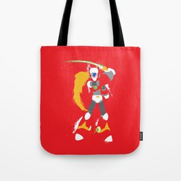 Zero (Mega Man X) Splattery Design Tote Bag