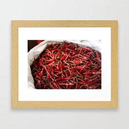 Love of Chili Framed Art Print