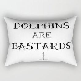 Dolphins Are Bastards Rectangular Pillow