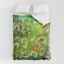 The Spackle - Original Mixed Media Painting Comforters
