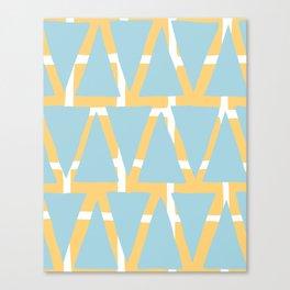 Blue and Yellow Arrowhead Print Canvas Print