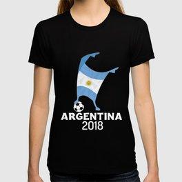 Argentina Flag Football Cup Soccer 2018 Dabbing World T-shirt
