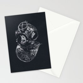 Macaque Diver Stationery Cards