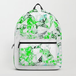 green heart shape abstract with white abstract background Backpack