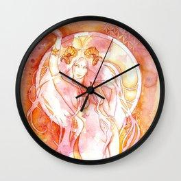 Goddess of Aries - A Fire Element Wall Clock