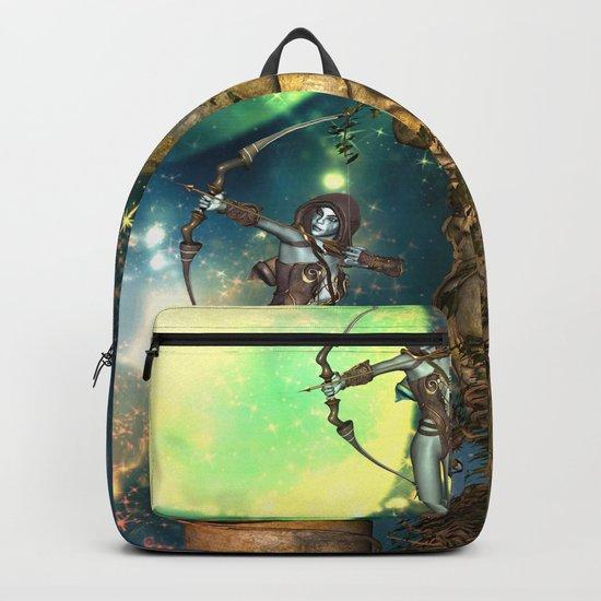 Fairy on a jungle head Backpack