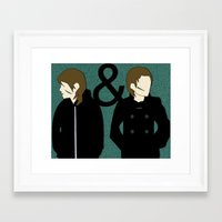 tegan and sara Framed Art Prints featuring tegan & sara by lizbee