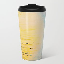 MYSTIC GARDEN Lovely Fairy Land Abstract Painting Acrylic Fine Art Winter Colorful Fantasy Magical Travel Mug