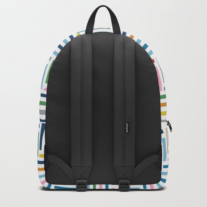 Herringbone Color Part Backpack
