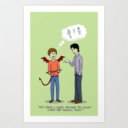 Carry On Stake Through the Heart Art Print