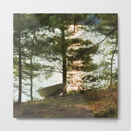 450 - Boat at the Cottage Metal Print