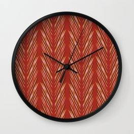 Wheat Grass Terra Cota Wall Clock