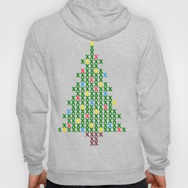 Cross Stitch Christmas Tree Hoody