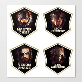 Gaming Legends [4 in 1 set] #1 Canvas Print