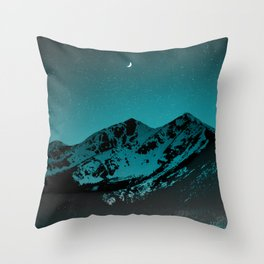 Mountains at night series II // Boulder Colorado Throw Pillow