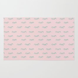 Small Pink Sleeping Eyes Of Wisdom-Pattern- Mix & Match With Simplicity Of Life Rug