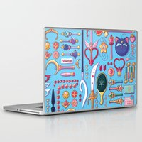 arsenal Laptop & iPad Skins featuring Magical Arsenal Blue by Paulina Ganucheau