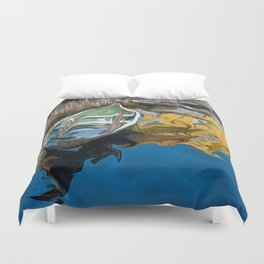 Norwegian Row Boat And Reflections Duvet Cover