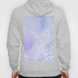 Mandala flower on watercolor background - pink and lilac Hoody