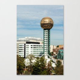 Sunsphere + Downtown Knox Canvas Print