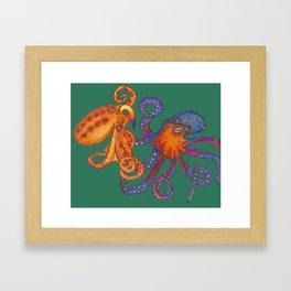 Two Octopodes Framed Art Print