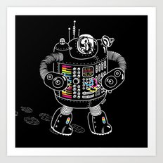 Panda Music Jaeger Art Print