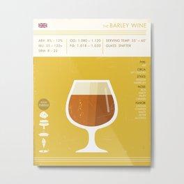 Barleywine Beer Art Print Metal Print