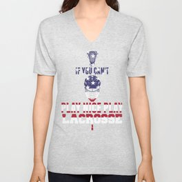 Patriotic Lacrosse If You Can't Play Nice Play Lacrosse Unisex V-Neck