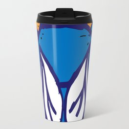 The Fly in Orange and Blue Travel Mug