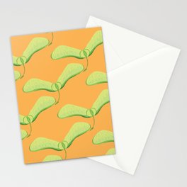 Maple Seed Print - Creamsicle Stationery Cards