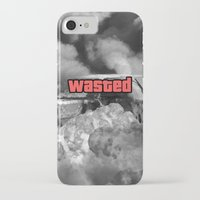 gta iPhone & iPod Cases featuring Wasted GTA by JOlorful