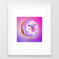donut Framed Art Prints featuring Donut by Zaksheuskaya