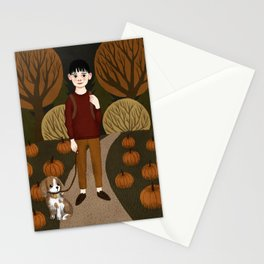 pumpkin boy Stationery Cards