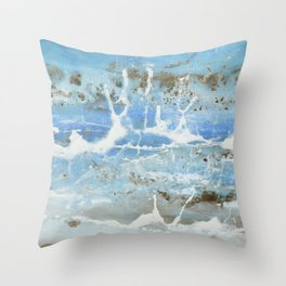 tiny splashes Throw Pillow