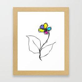 Flower yf2050 Framed Art Print