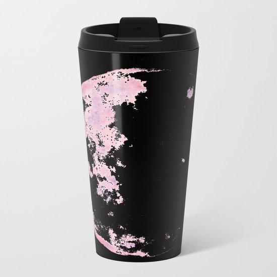 pink moon 02 Metal Travel Mug