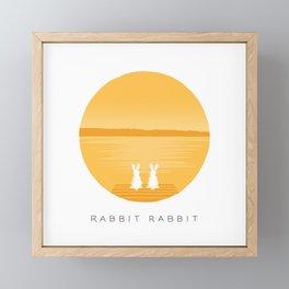 Rabbit Rabbit Sunrise Framed Mini Art Print
