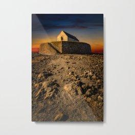 St Cwyfan Church Sunset Metal Print