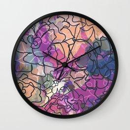 Tapestry Batik Wall Clock