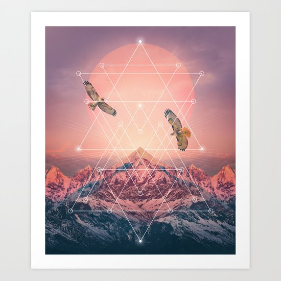Find the Strength To Rise Up Art Print