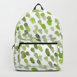 Imperfect brush strokes - olive green Backpack