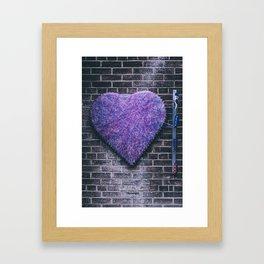 Woven Heart Framed Art Print