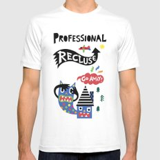 Professional Recluse MEDIUM White Mens Fitted Tee