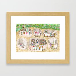 Down the Rabbit Hole Framed Art Print