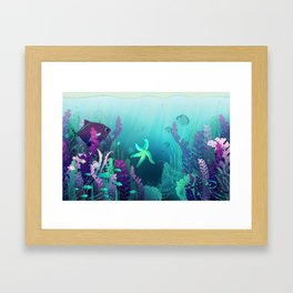 Deep down in the water Framed Art Print