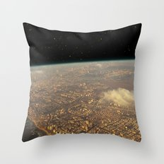 Earth Space Throw Pillow