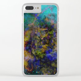 Evolving Space - Abstract, outer space painting Clear iPhone Case