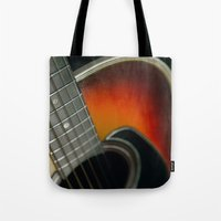 guitar Tote Bags featuring Guitar by Bruce Stanfield