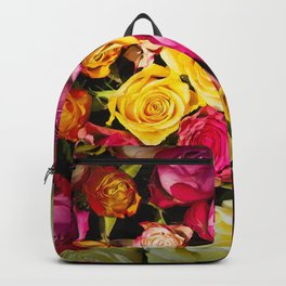 Real roses pattern Backpack